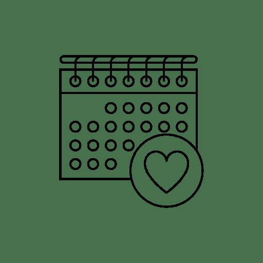 Calendar heart icon Selah Online Christian Preschool Bozeman